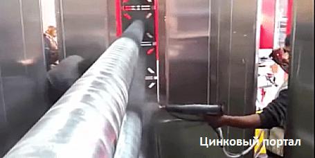 Технология нанесения комбинированного цинксодержащего покрытия на полые профиля, трубы